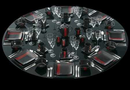 205 Ruby Red 47pce Dinner set